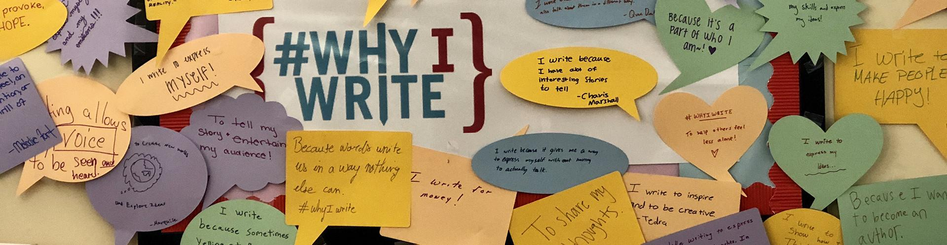 #WhyIWrite