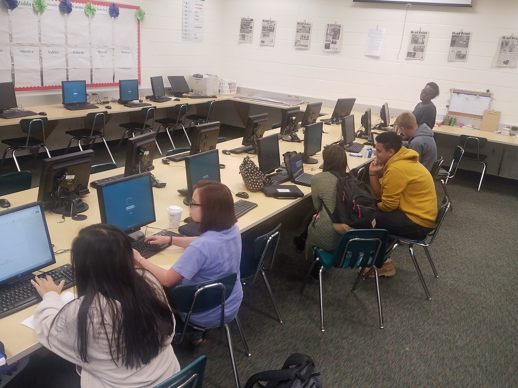 Ola High School Writing Center Students